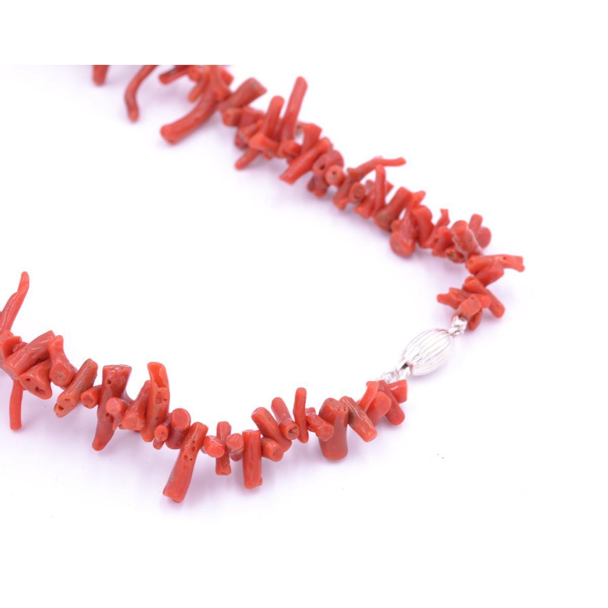 CORAL NECKLACE Red BRASS Gioielli