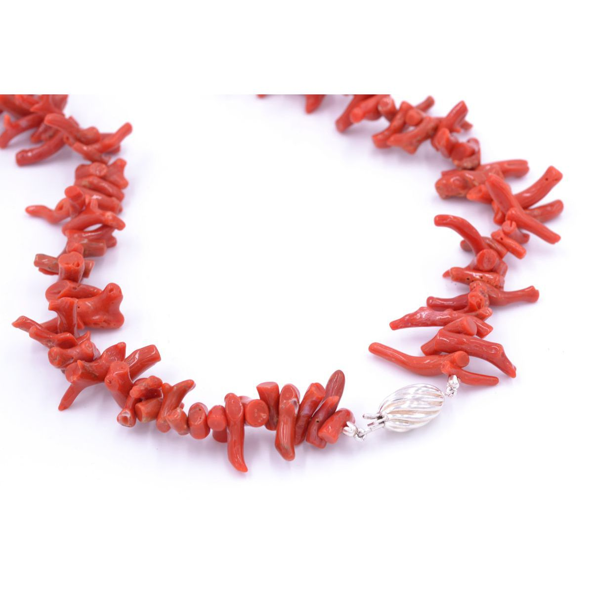 LONG CORAL NECKLACE Red BRASS Gioielli
