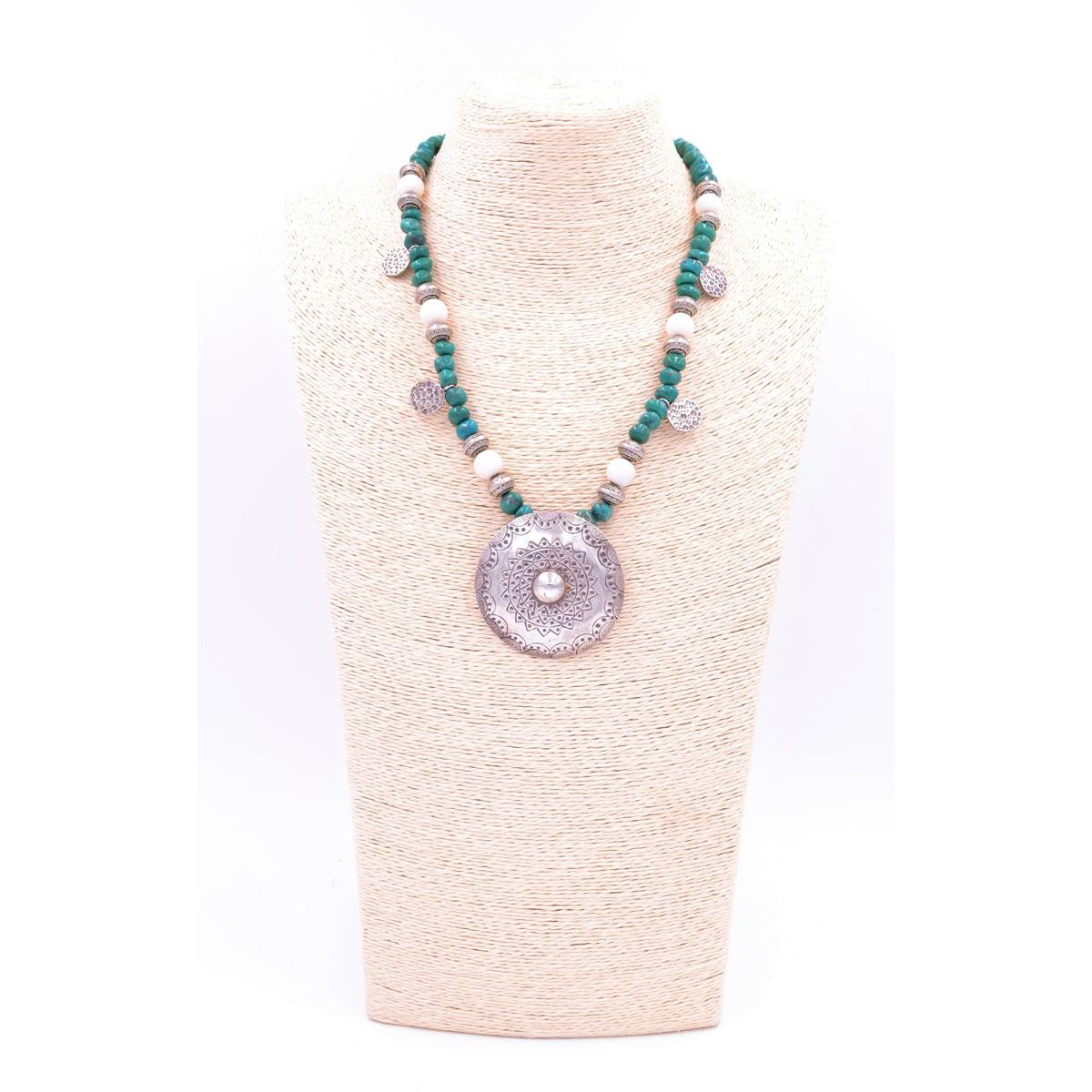 Moon Ethnic necklace Turquoise BRASS Gioielli
