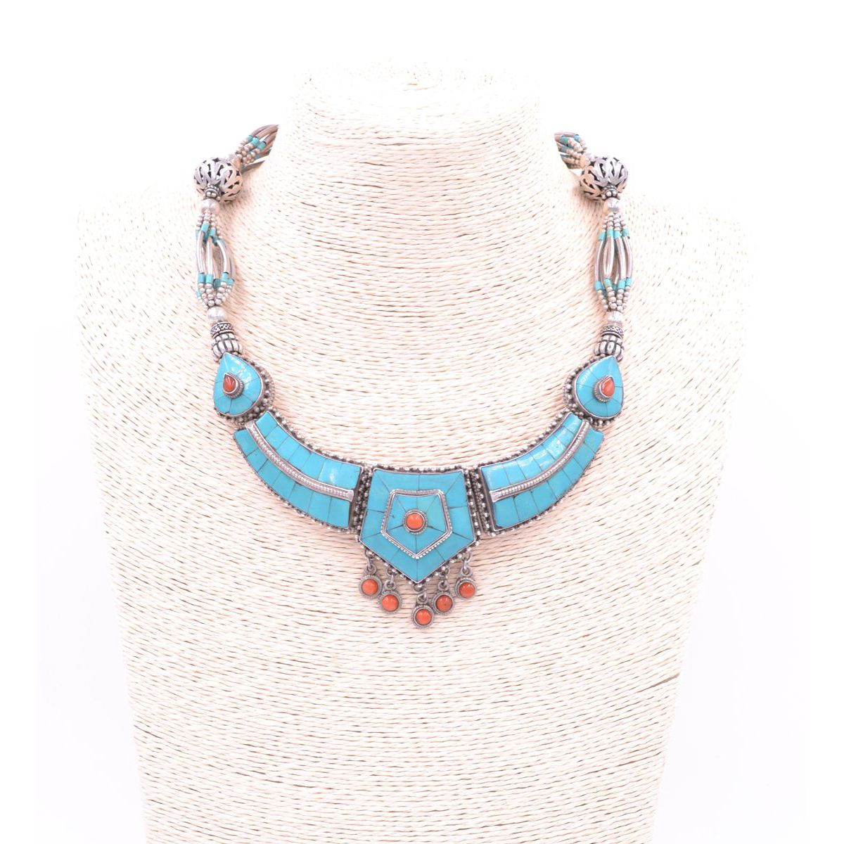 Silver and turquoise necklace Turquoise BRASS Gioielli