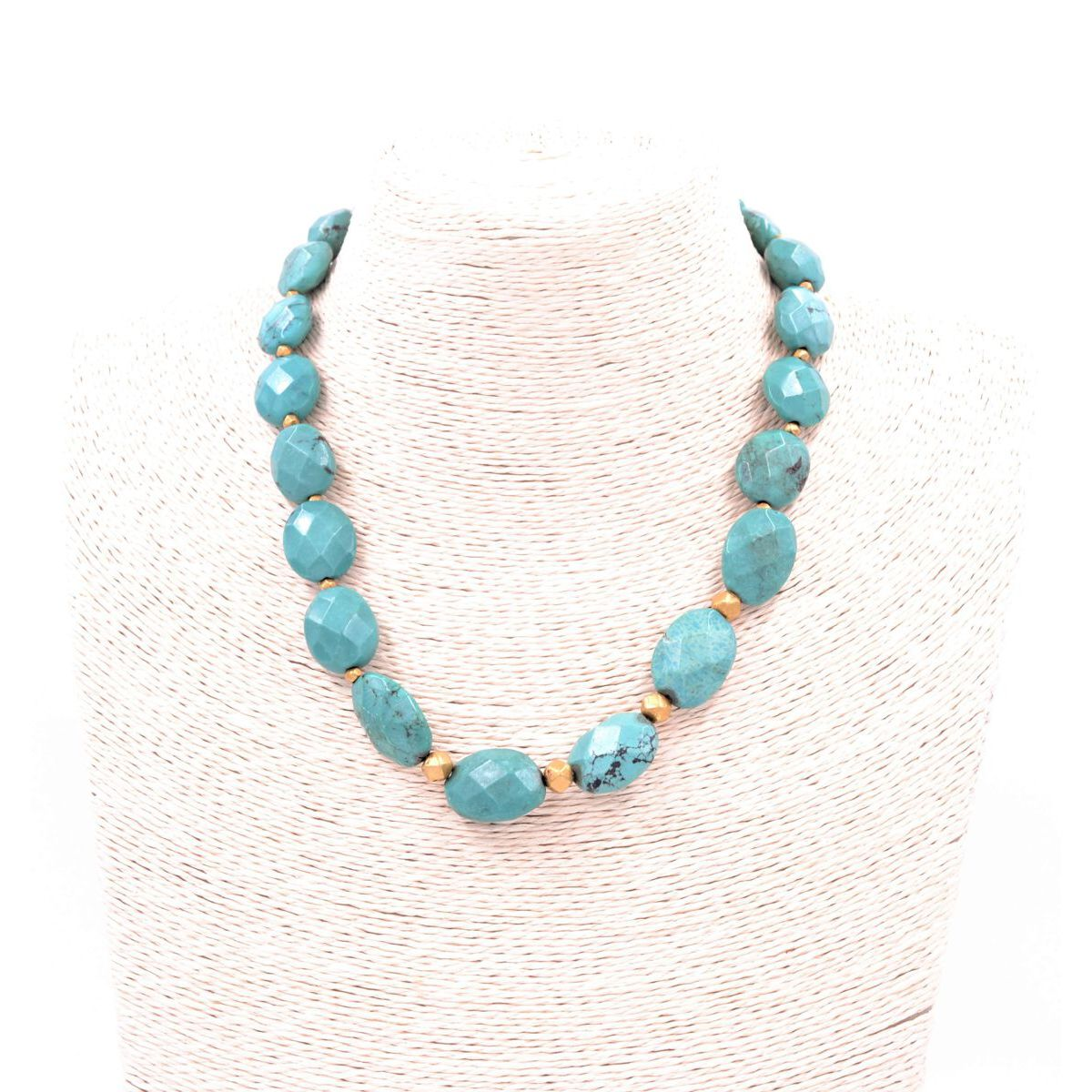 TURQUOISE NECKLACE Turquoise BRASS Gioielli