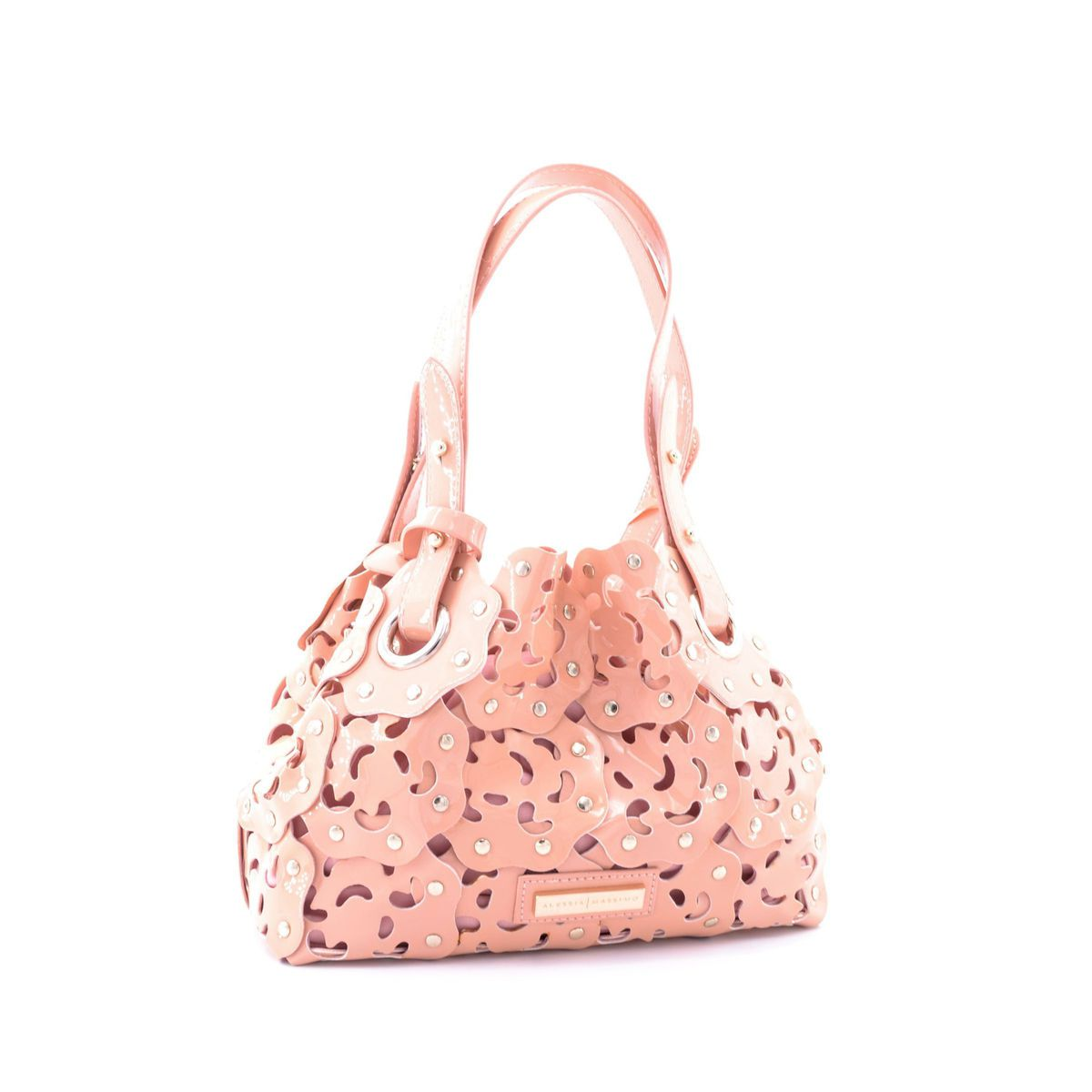 Pic pvc bag with stylized flowers Pink Alessia Massimo