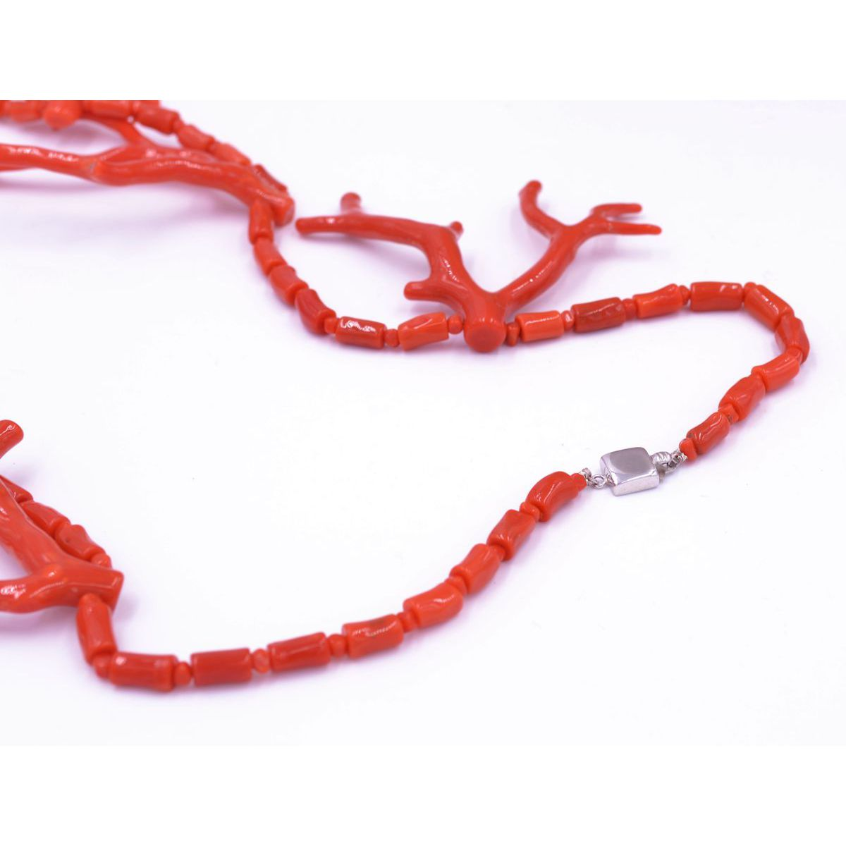 CORAL NECKLACE BRANCHES Red BRASS Gioielli