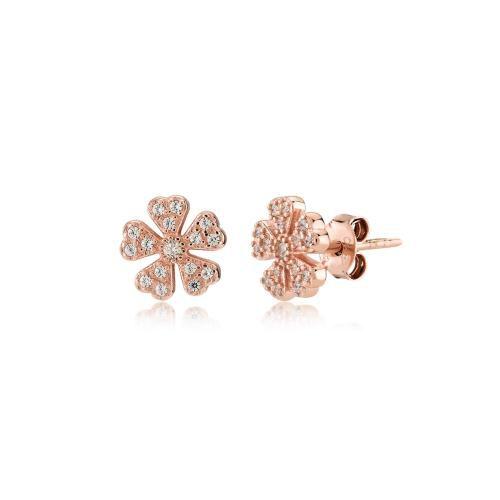 Bahar, sterling silver earrings Rosegold Kurshuni