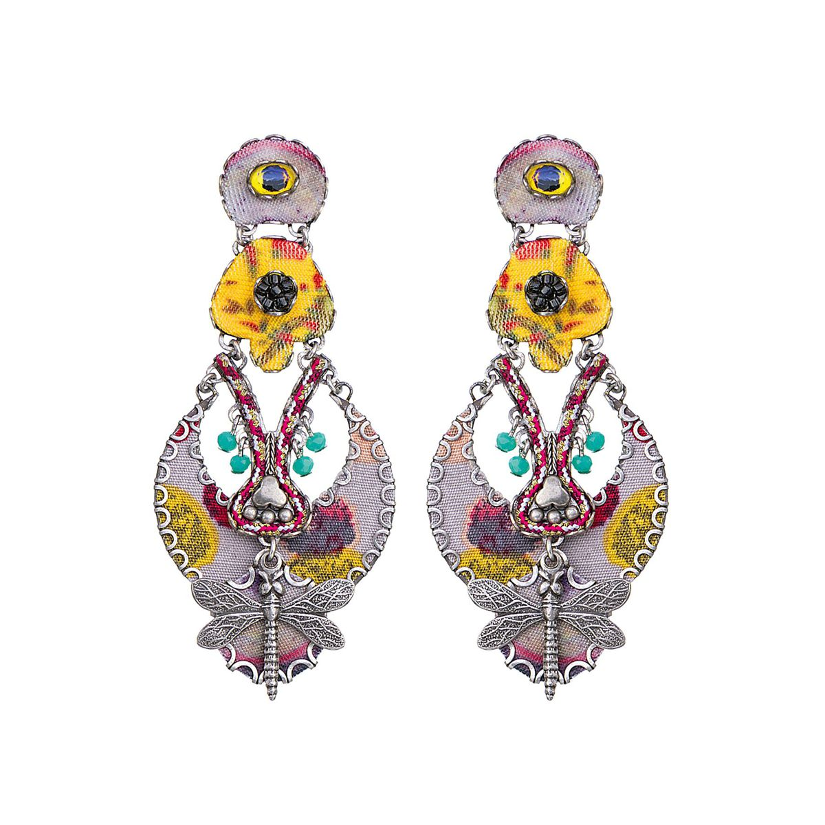 Highland Bird Earrings Yellow AyalaBar