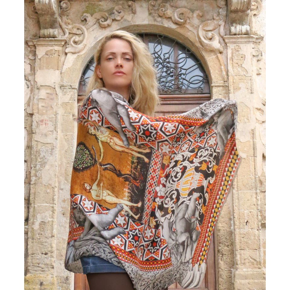 KISS OF ANGEL FOULARD Beige HELUNA