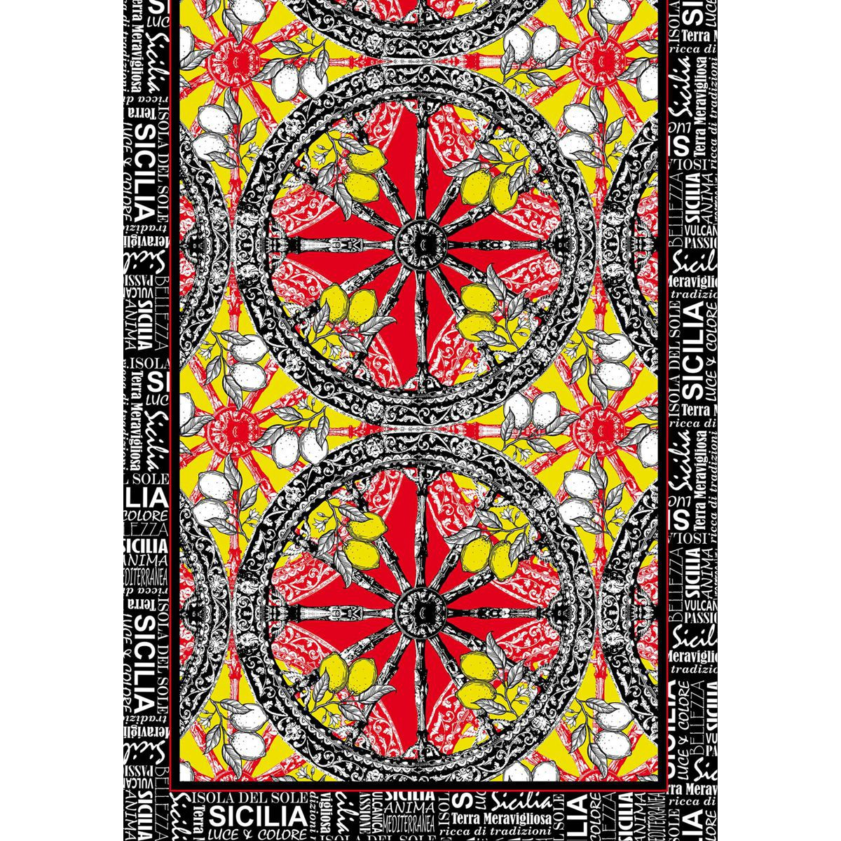 WHEELS AND LEMONS FOULARD Black HELUNA