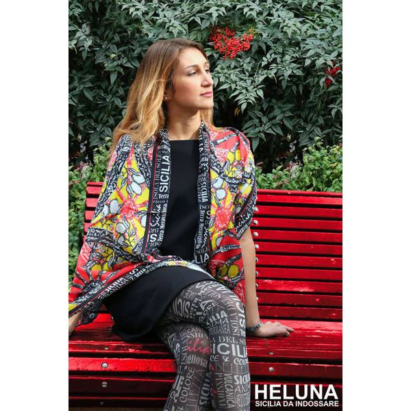 3. WHEELS AND LEMONS FOULARD Black Heluna
