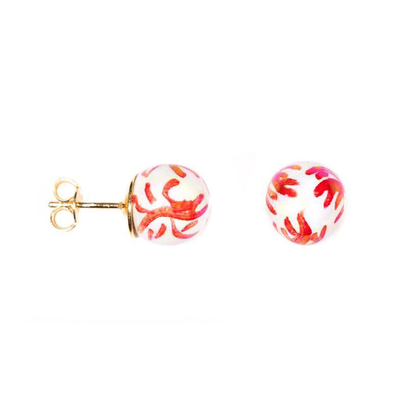 Decoro-8 Earrings White Le Perle di Caltagirone