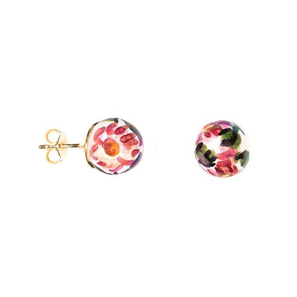 Decoro-10 Earrings Pink Le Perle di Caltagirone