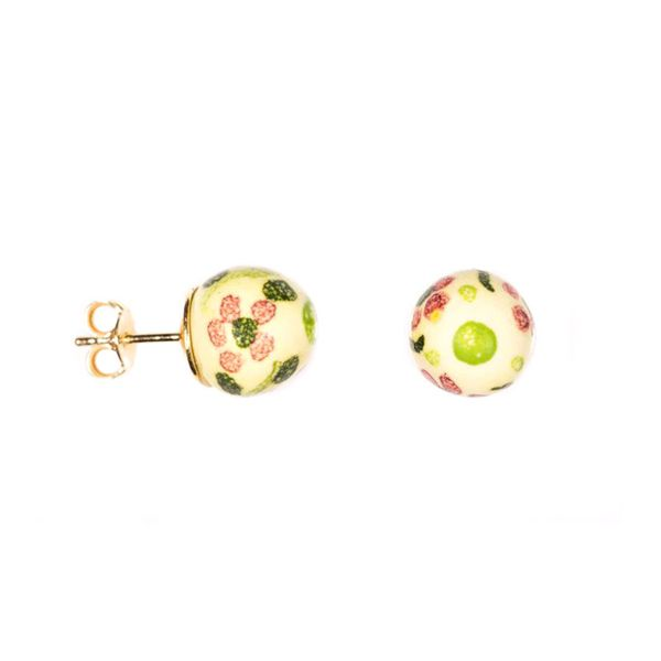 DECORO-23A EARRINGS Beige Le Perle di Caltagirone