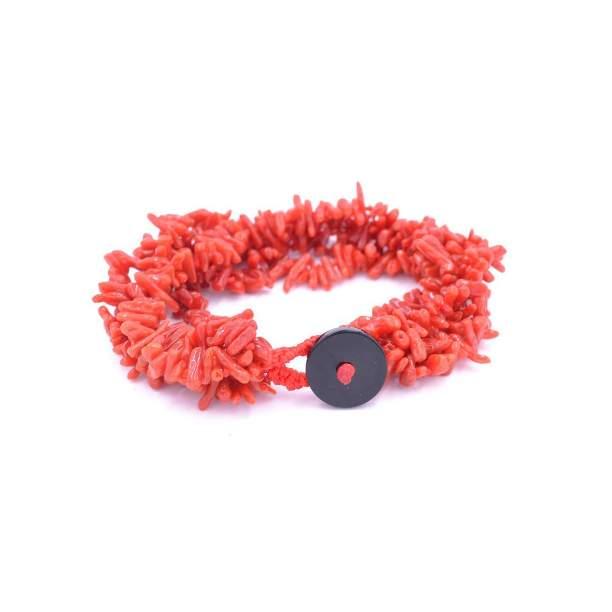 Coral 5wire Bracelet Red BRASS Gioielli