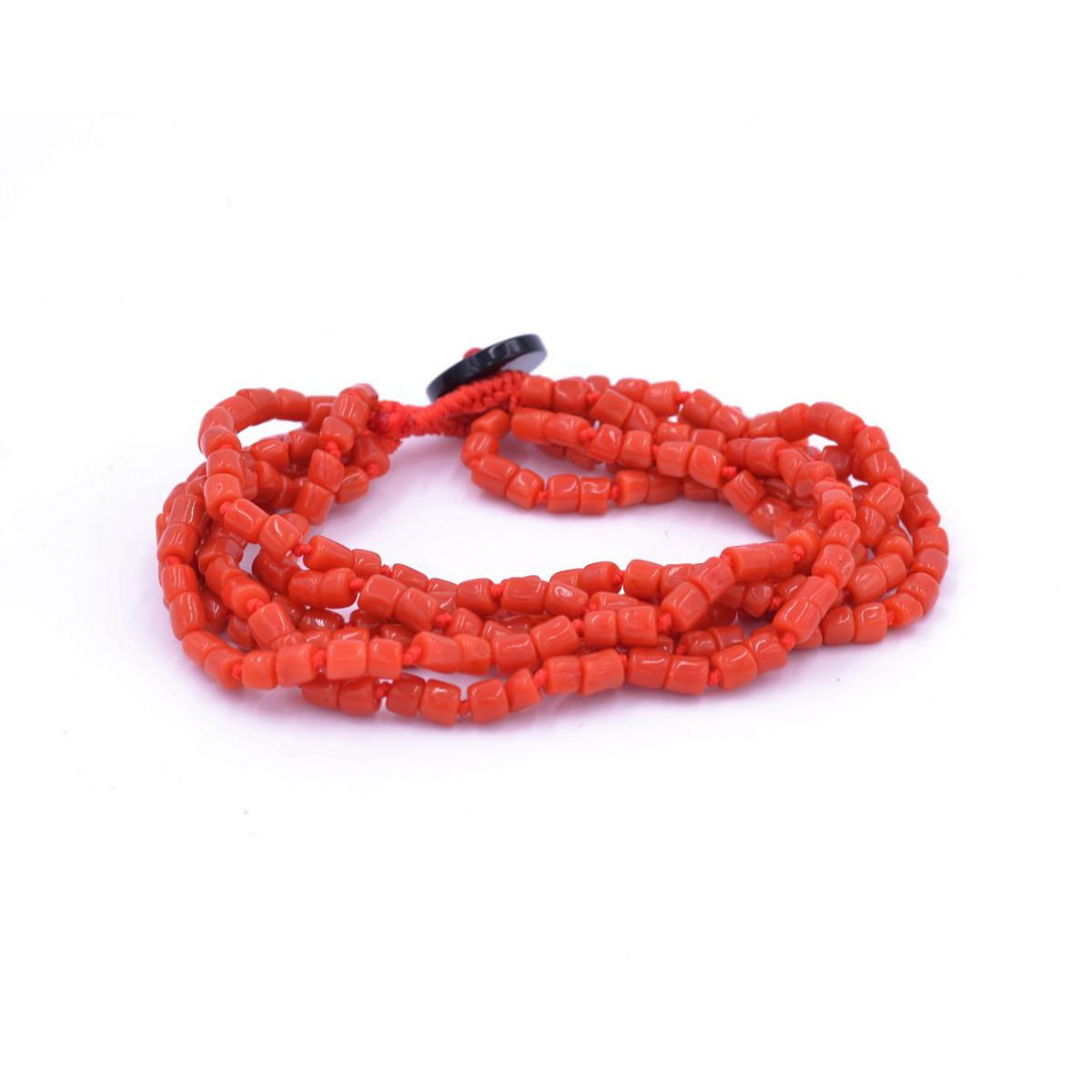 CORAL 6 WIRE BRACELET Red BRASS Selection