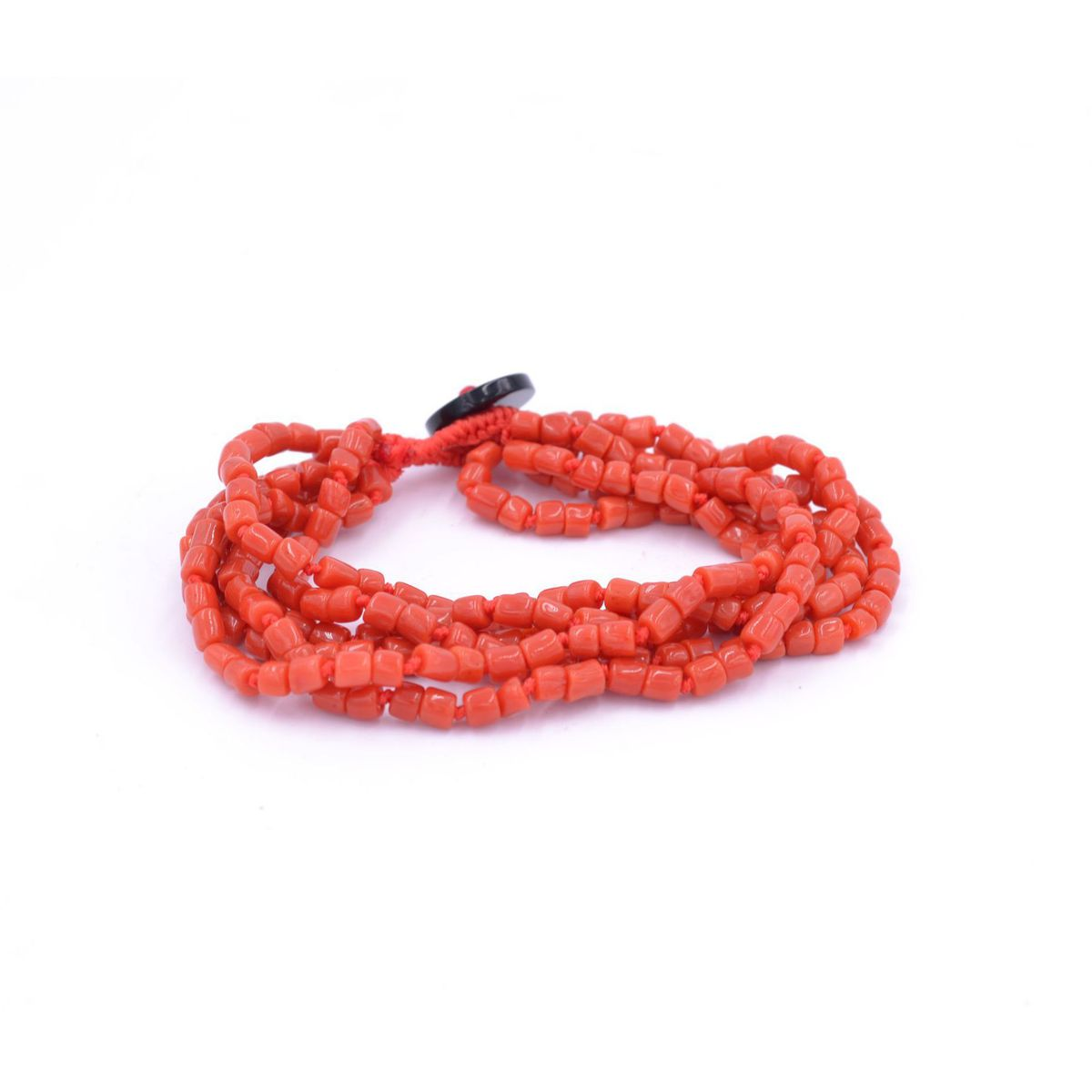 Coral 4wire Bracelet Black BRASS Gioielli