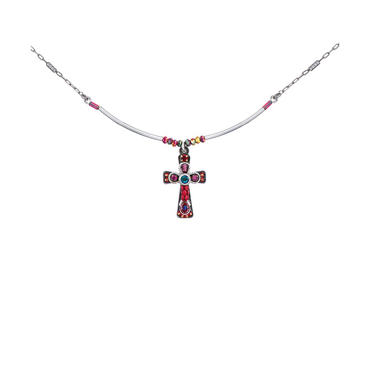 RED CROSS NECKLACE Red AyalaBar