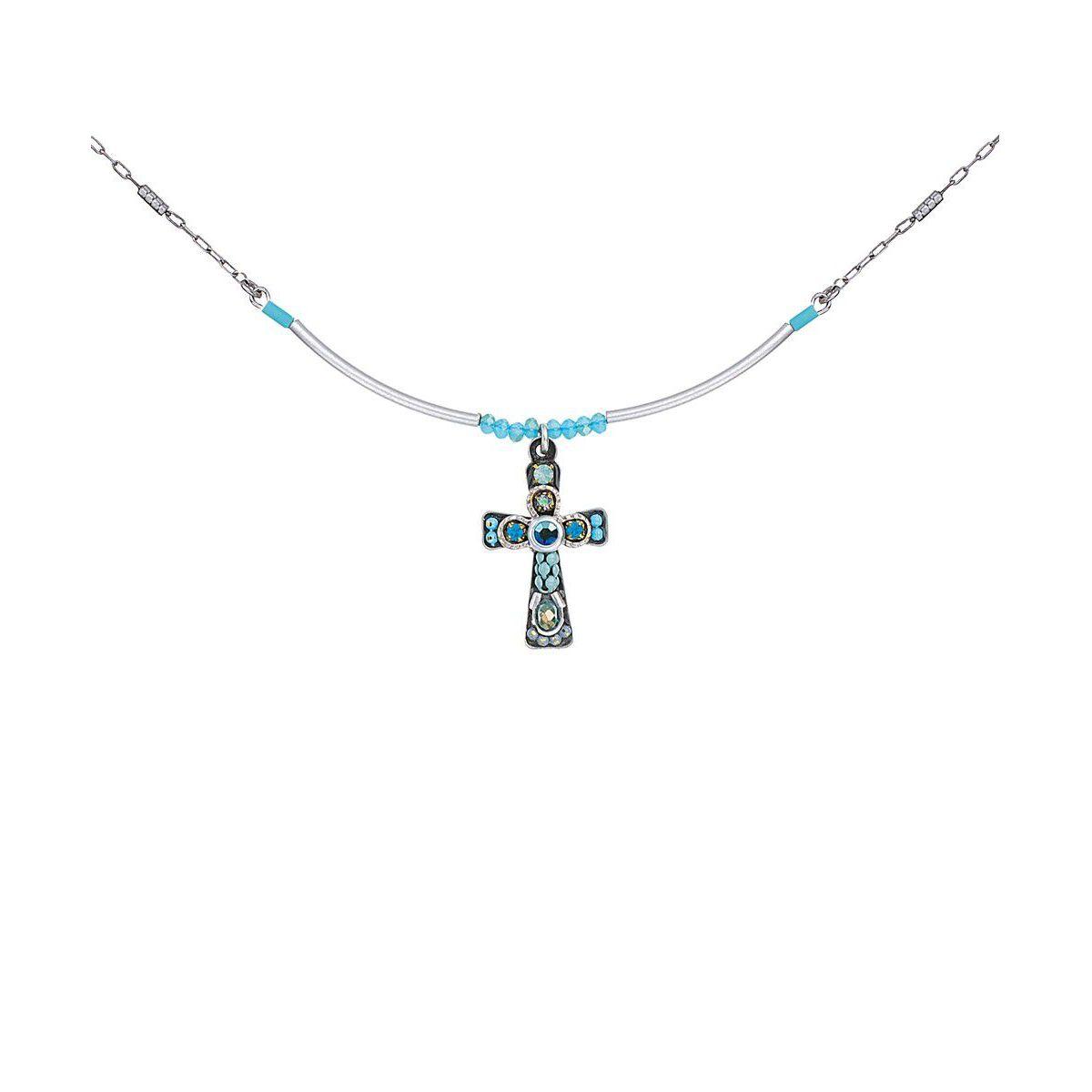 Blu sky Cross Necklace Turquoise AyalaBar