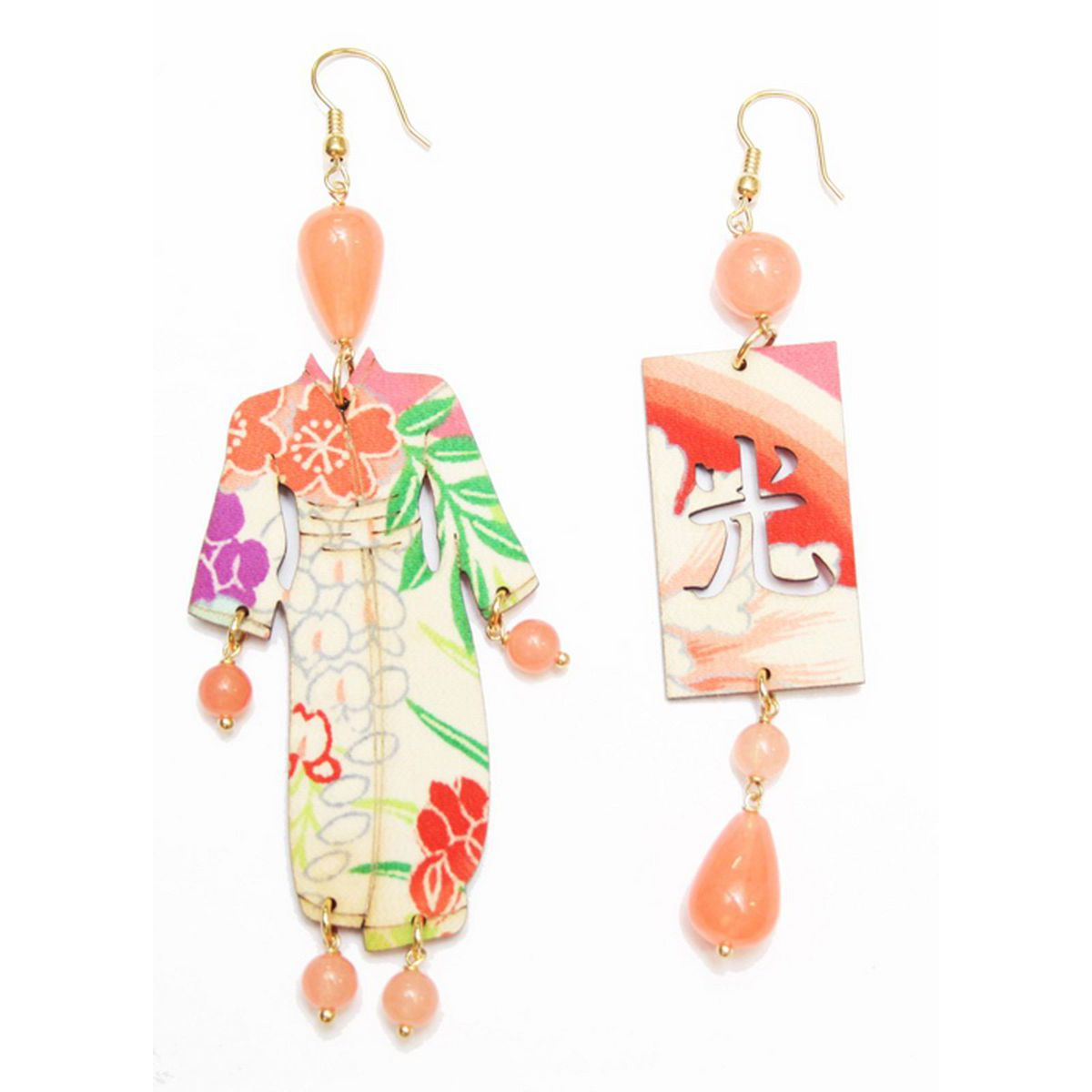 BIG KIMONO ORANGE EARRINGS Orange LEBOLE GIOIELLI