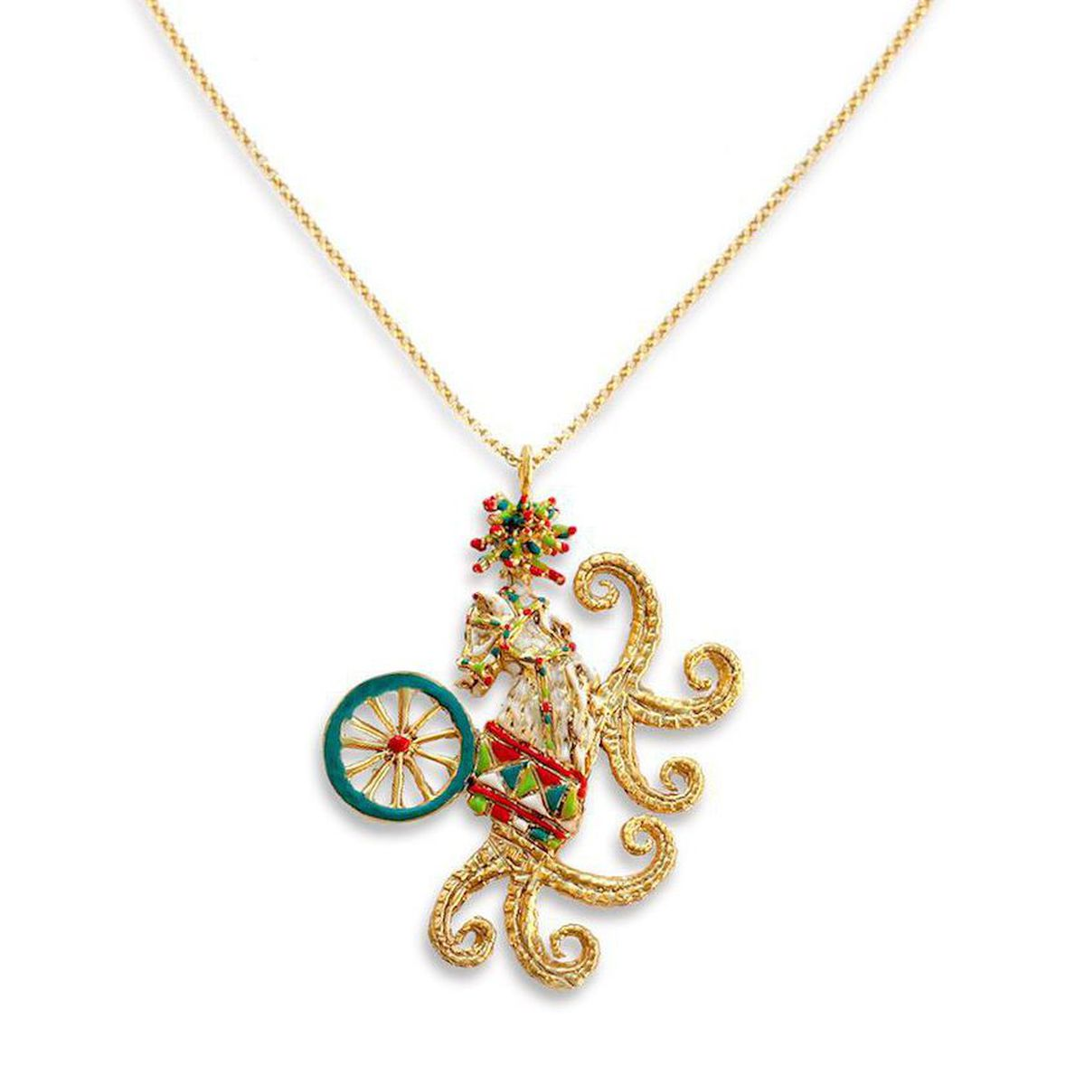 SICILIAN CARAVAN NECKLACE J-P80 Gold GIULIANAdiFRANCO