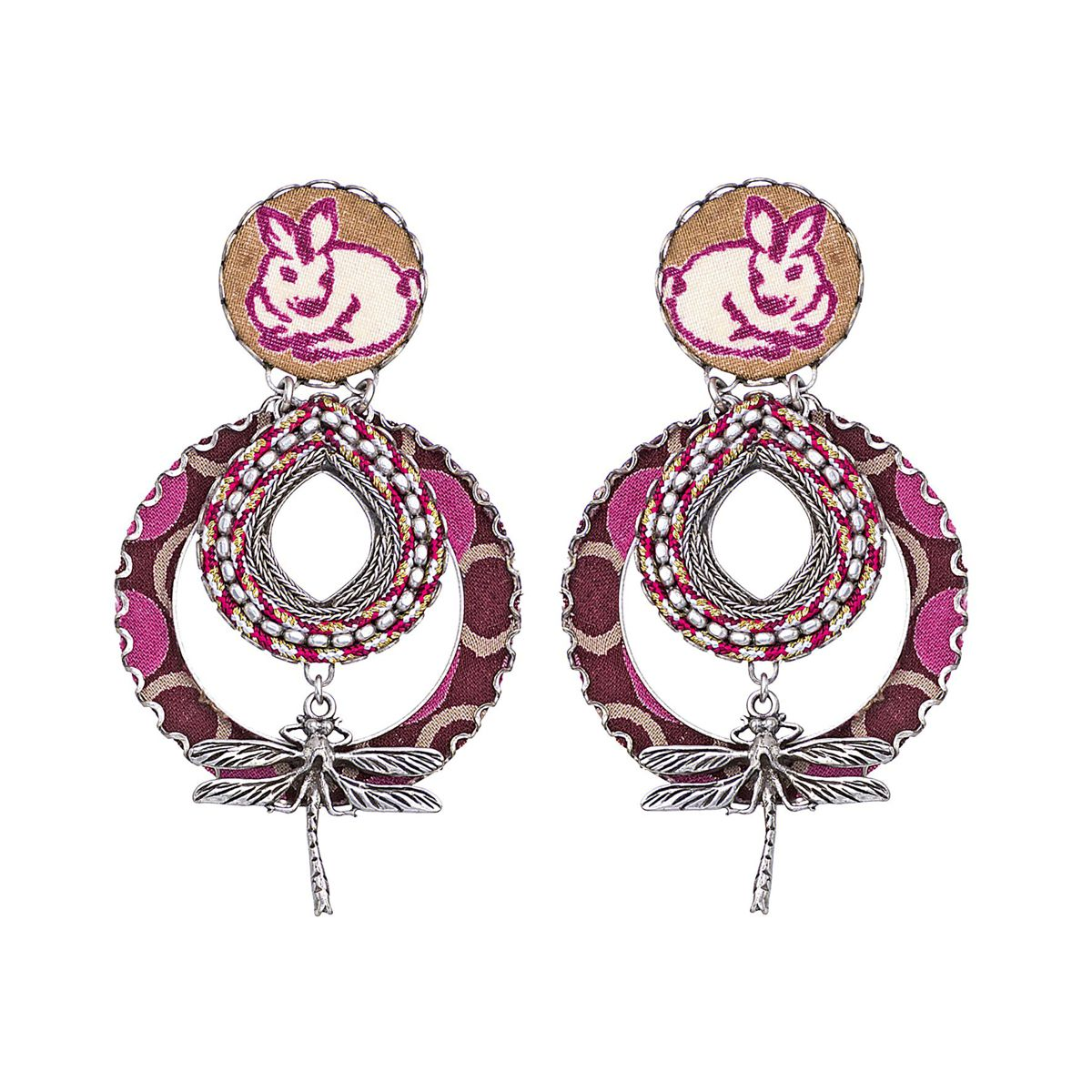 White Rabbit Earrings Purple AyalaBar