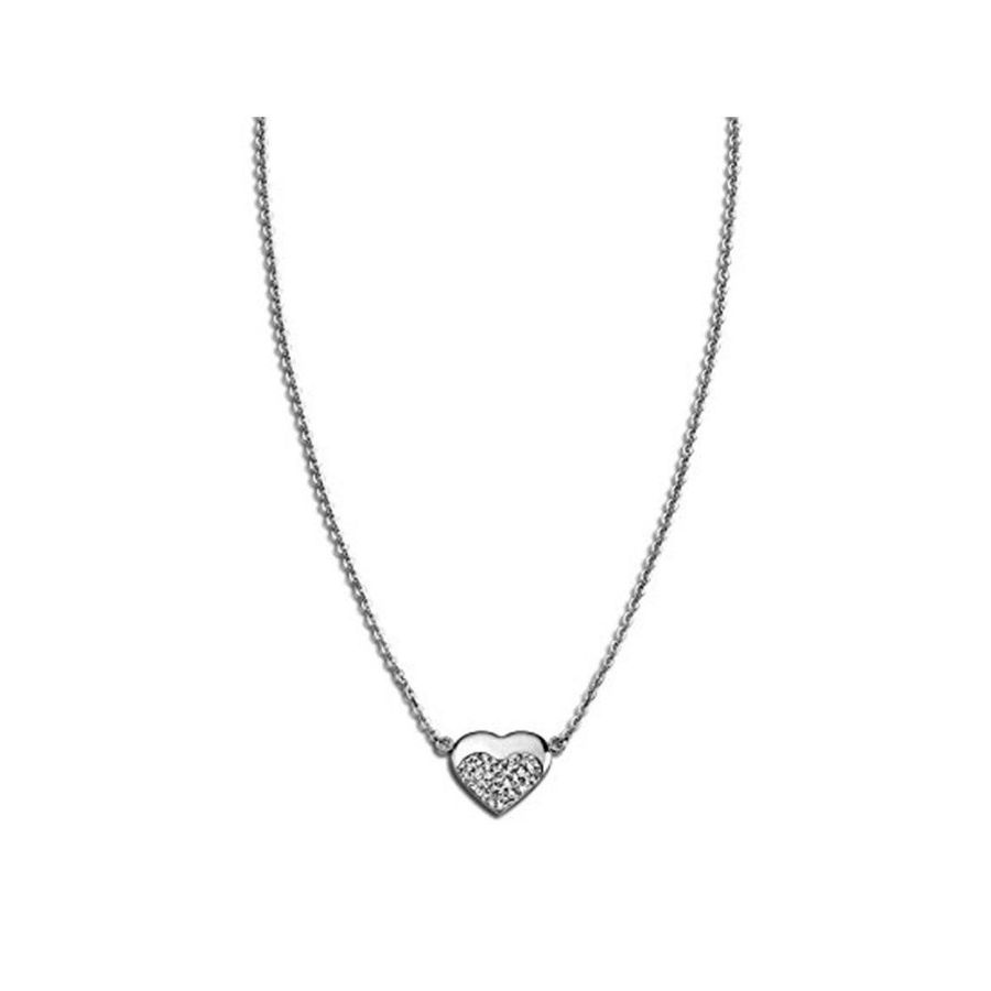 STRASS HEART NECKLACE Steel LOTUS Style