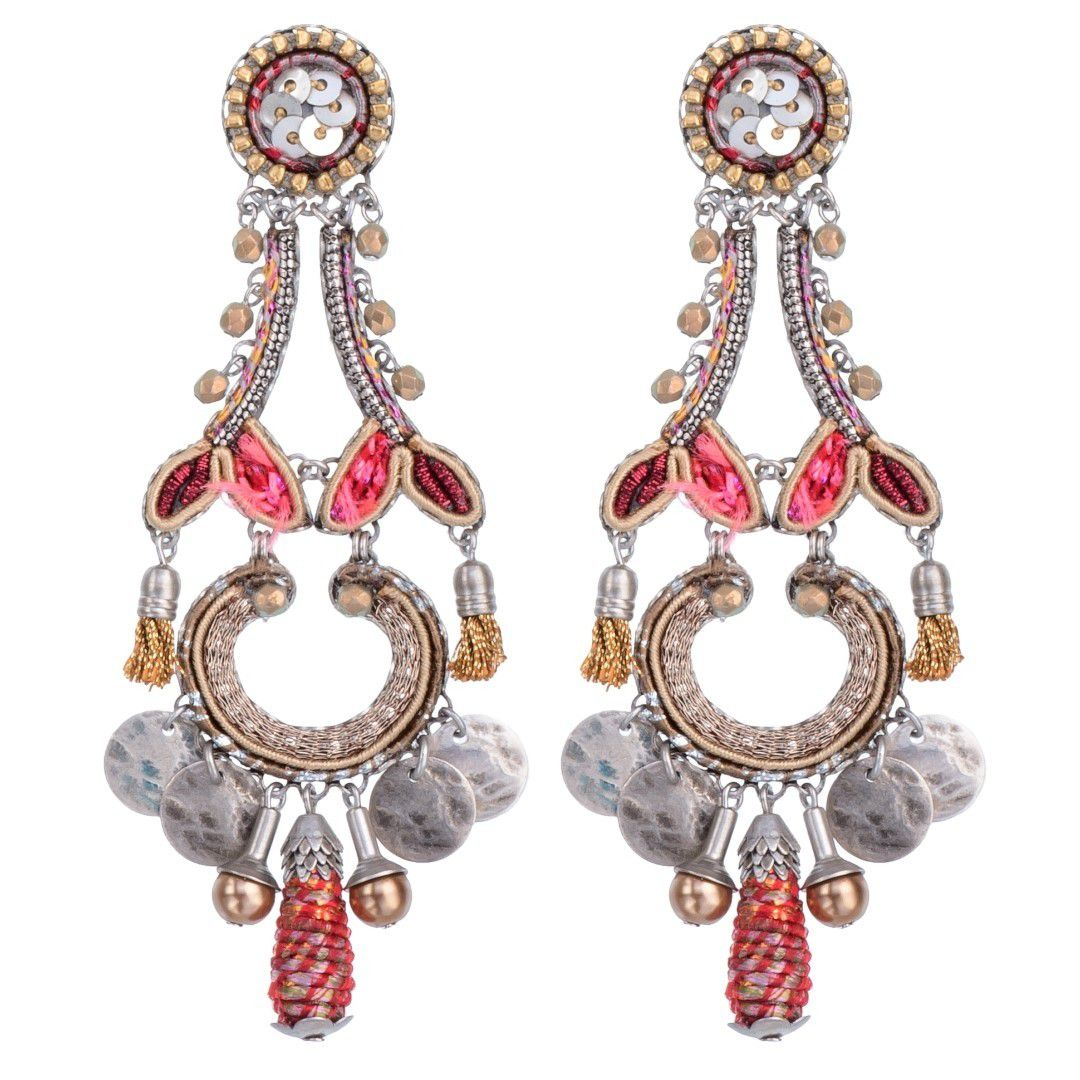 Birch Sarit Earrings Pink AyalaBar