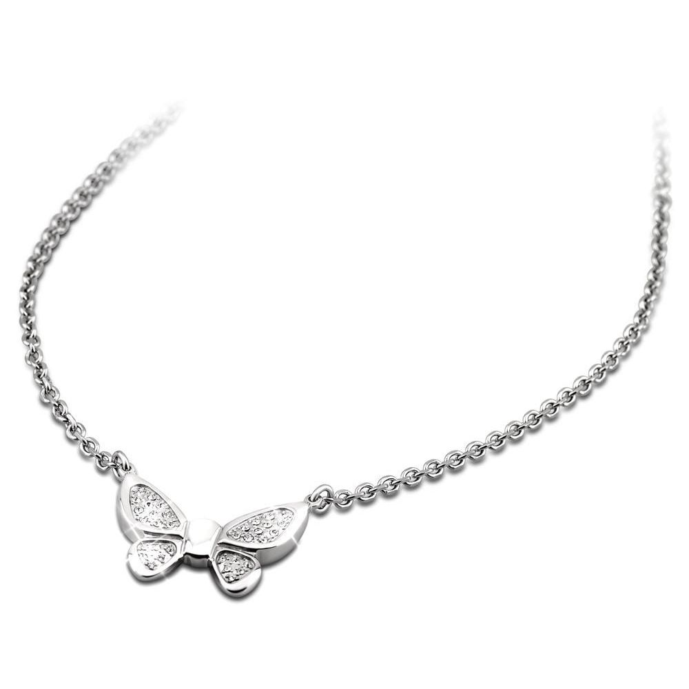 Butterfly Necklace with zircon Steel LOTUS Style