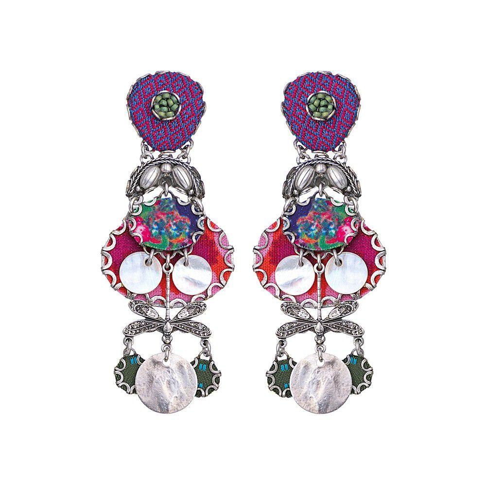 Rosemary Bloom Earrings Fucsia AyalaBar