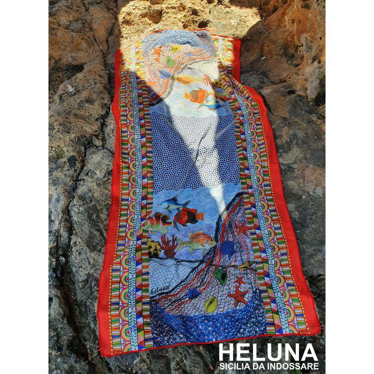 BEACH TOWEL RIZZA Blue HELUNA