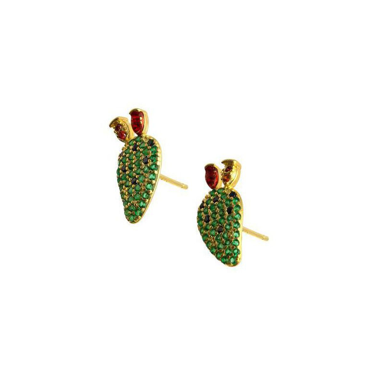 FIG SHOVEL GOLD EARRINGS Gold M'AMI SICILY JEWELS
