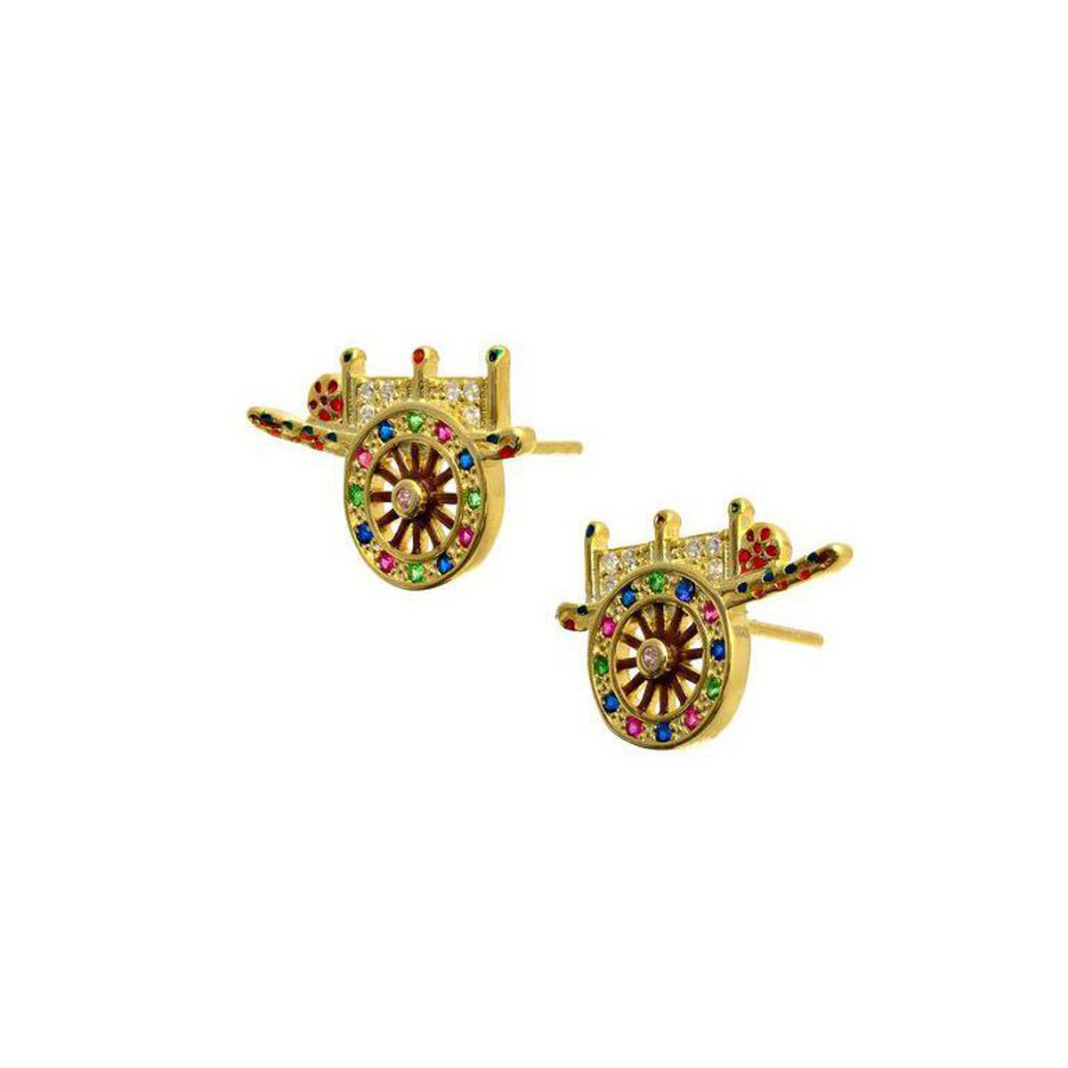 HANDCART GOLD EARRINGS Gold M'AMI SICILY JEWELS