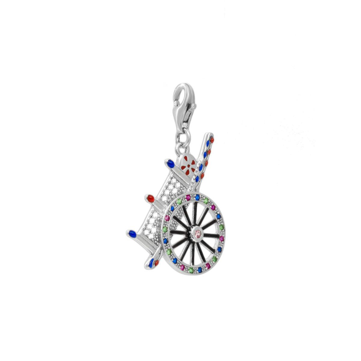 HANDCART CHARM Silver M'AMI SICILY JEWELS