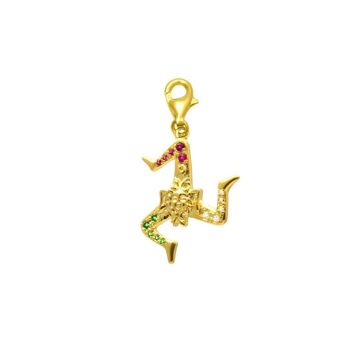 TRINACRIA GOLD Z CHARM Gold M'AMI SICILY JEWELS