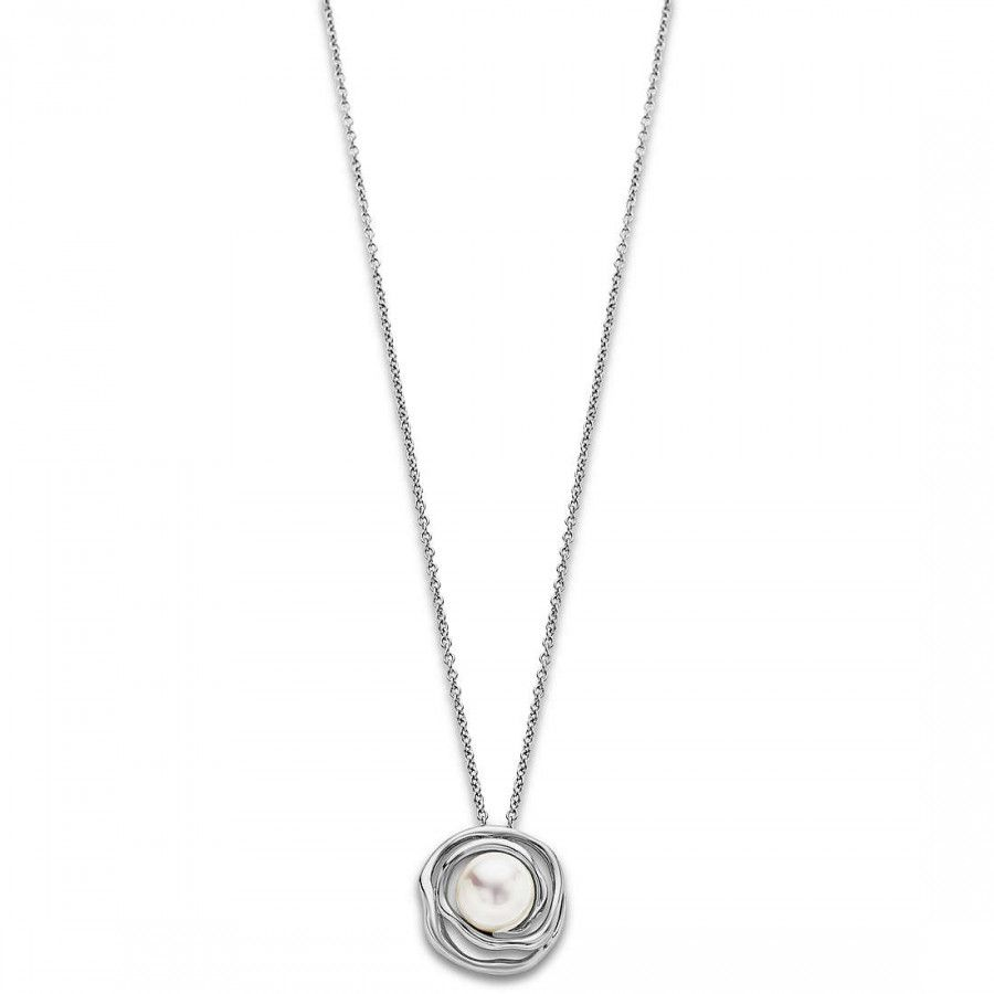 PEARL NECKLACE White LOTUS Style