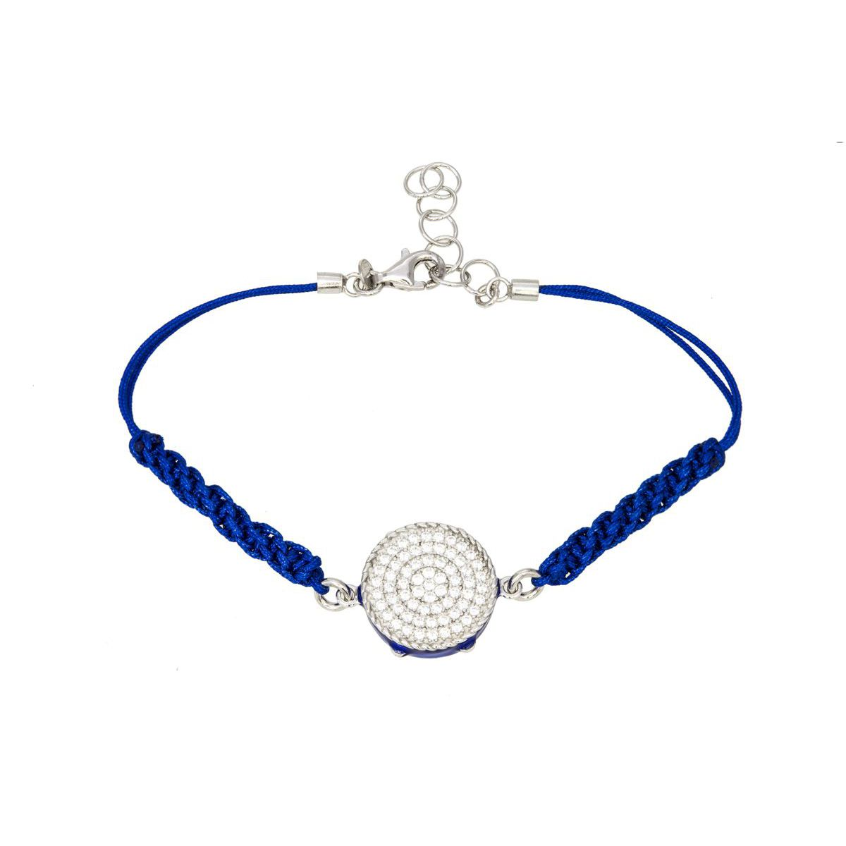 TAMBURINE MACRAME BRACELET Blue M'AMI SICILY JEWELS