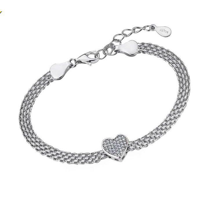 HEART BRACELET LP1647/2/2 Silver LOTUS Silver