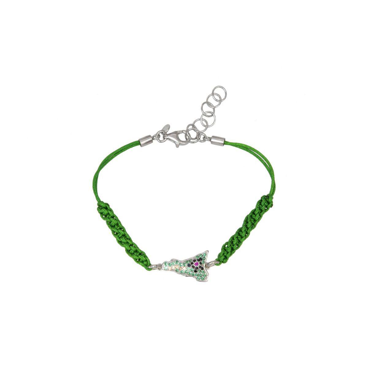 MACRAME B SICILY BRACELET Z Green M'AMI SICILY JEWELS