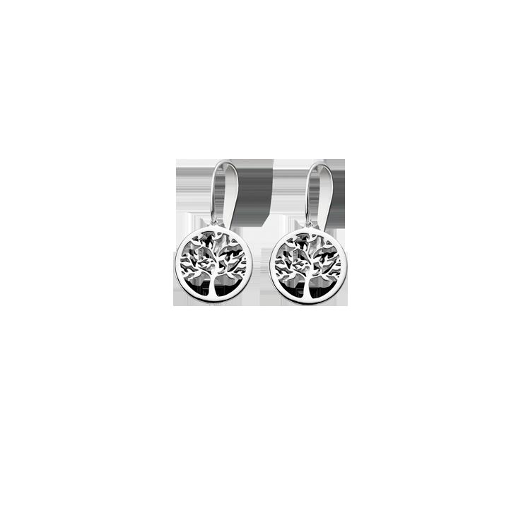 """TREE OF VALUE"" EARRINGS LP1641/4/1 Silver LOTUS Silver"