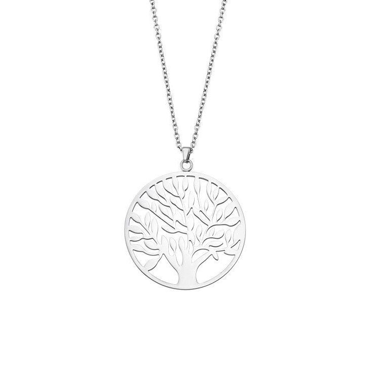 """TREE OF VALUE"" NECKLACE LS1898/1/1 Steel LOTUS Style"