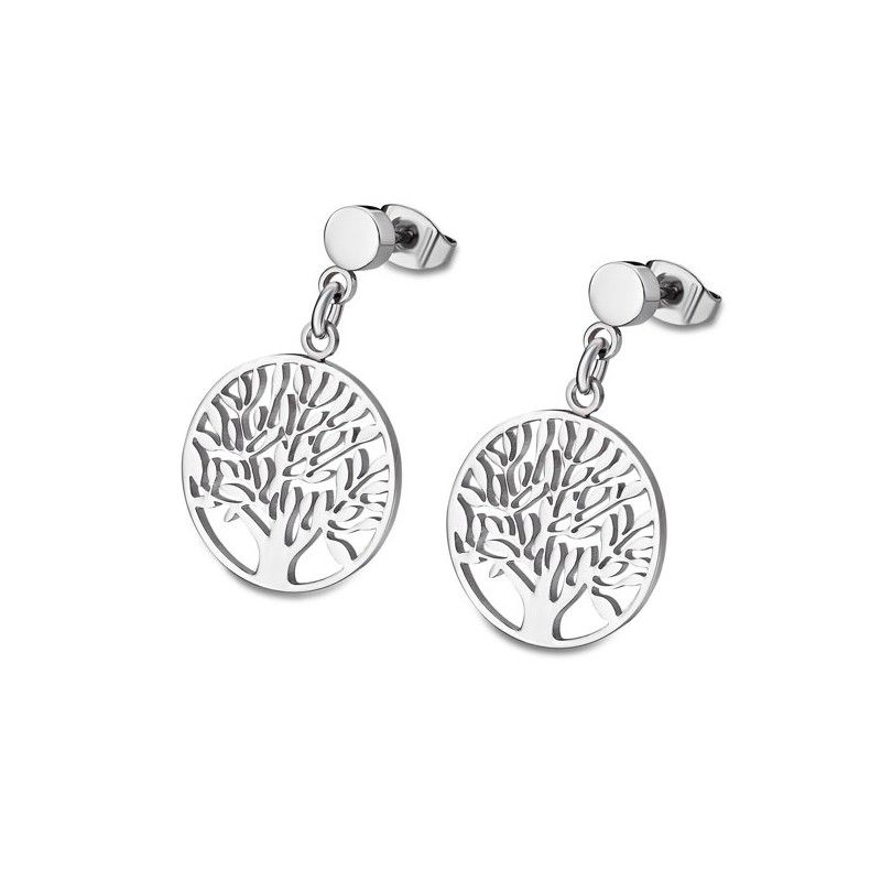 """TREE OF VALUE"" EARRINGS LS1898/4/1 Silver LOTUS Style"
