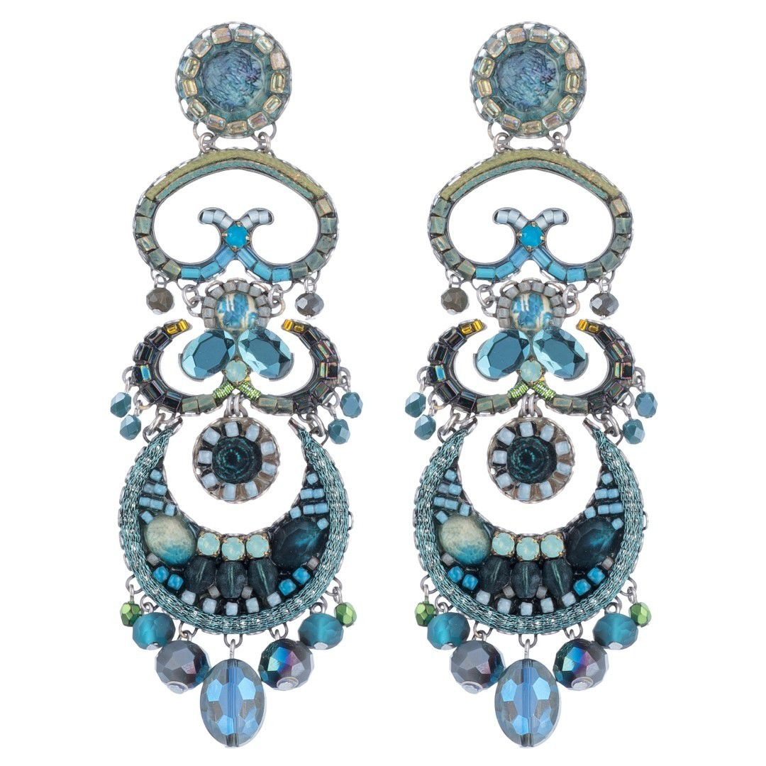 Clarity Hana Earrings Blue AyalaBar