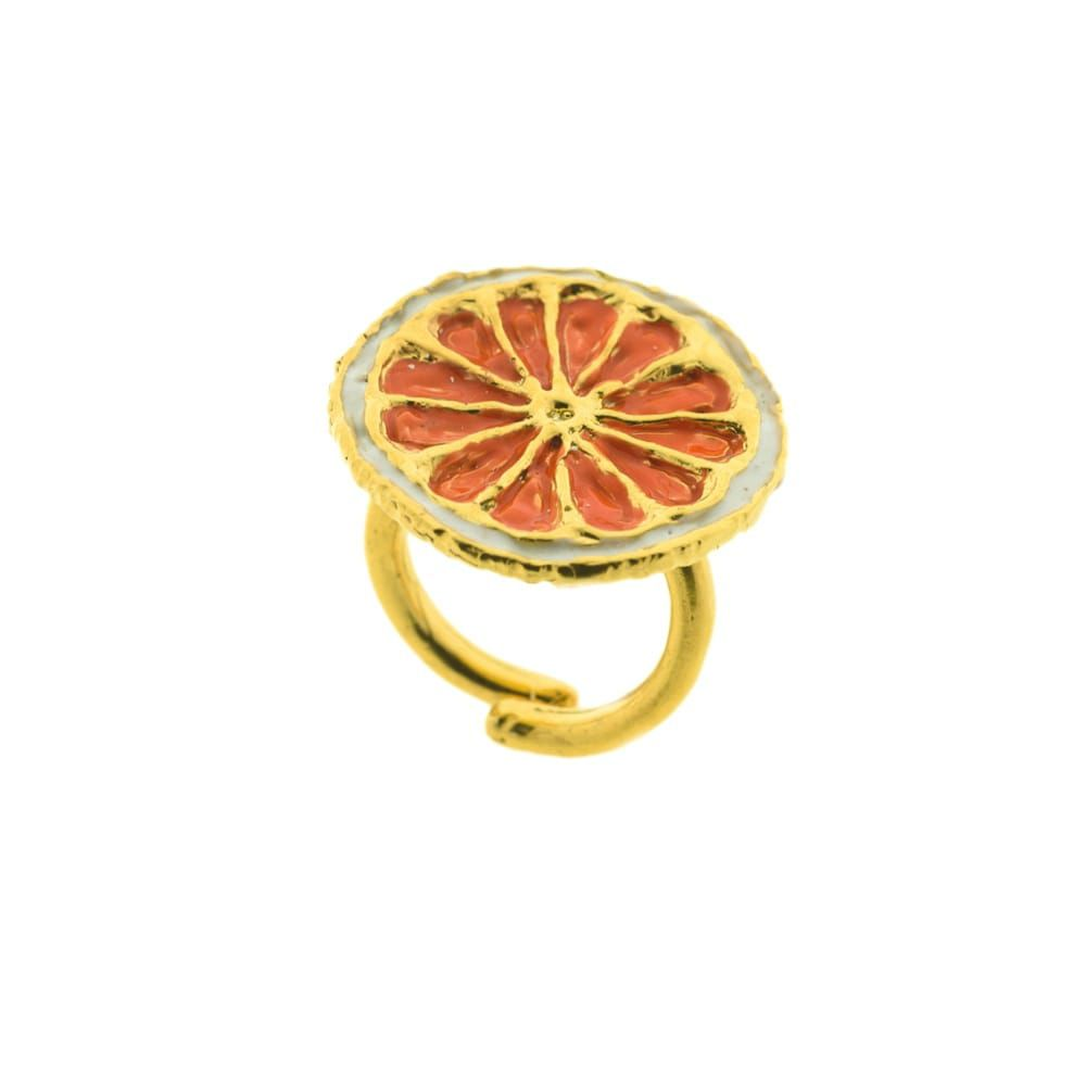 AGRODOLCE RING J-A82 Orange GIULIANAdiFRANCO