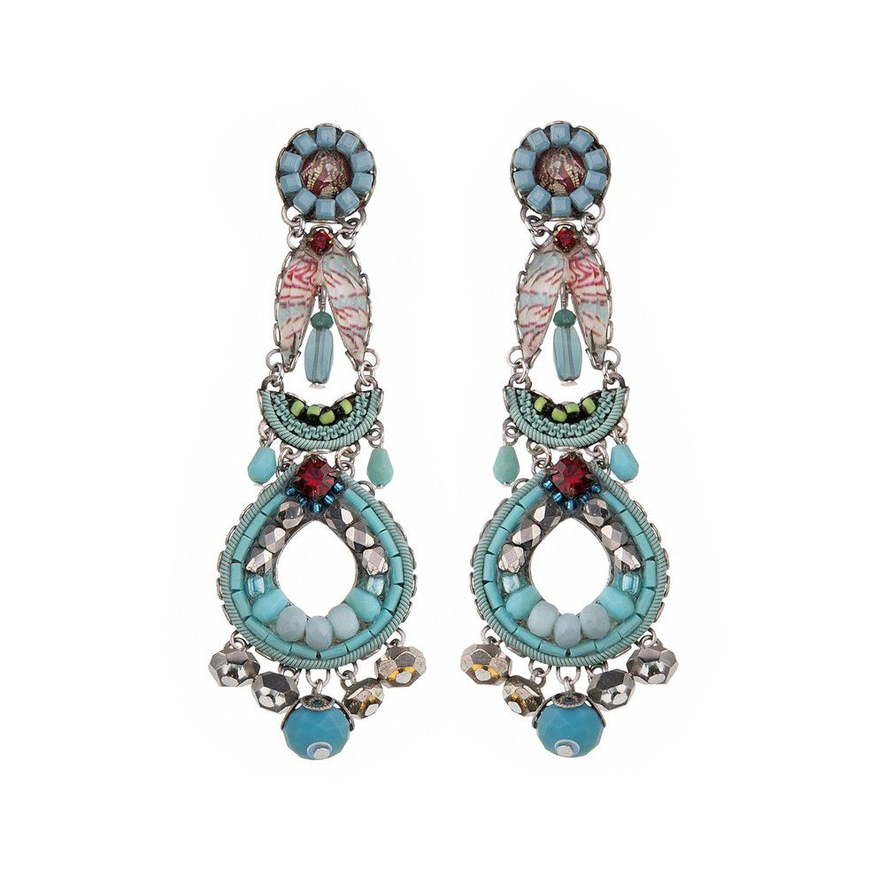 TAPESTRY DELIGHT, INNES EARRINGS Turquoise AyalaBar