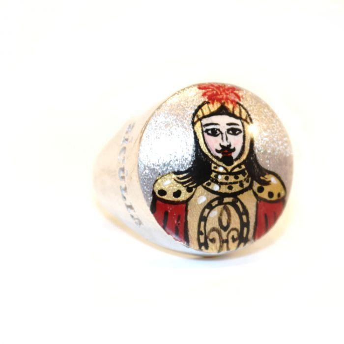 RED PUPO RING Silver Sicùlia Gioielli