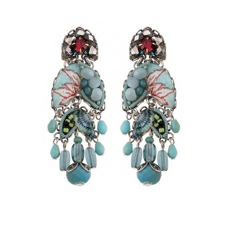 TAPESTRY DELIGHT, INDIRA EARRINGS Greenwater AyalaBar