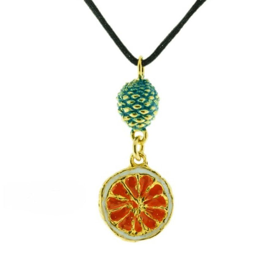 AGRODOLCE NECKLACE J-P81 Orange GIULIANAdiFRANCO