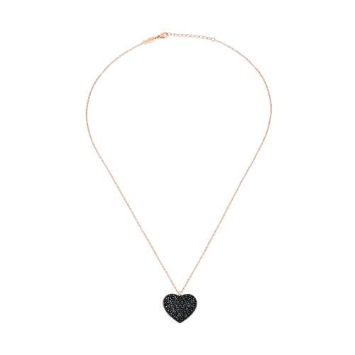 Amor, sterling silver necklace Black Kurshuni