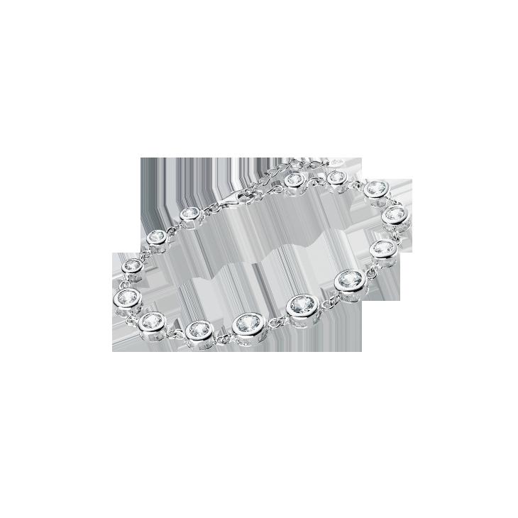 TENNIS BRACELET LP1787-2/1 White LOTUS Silver