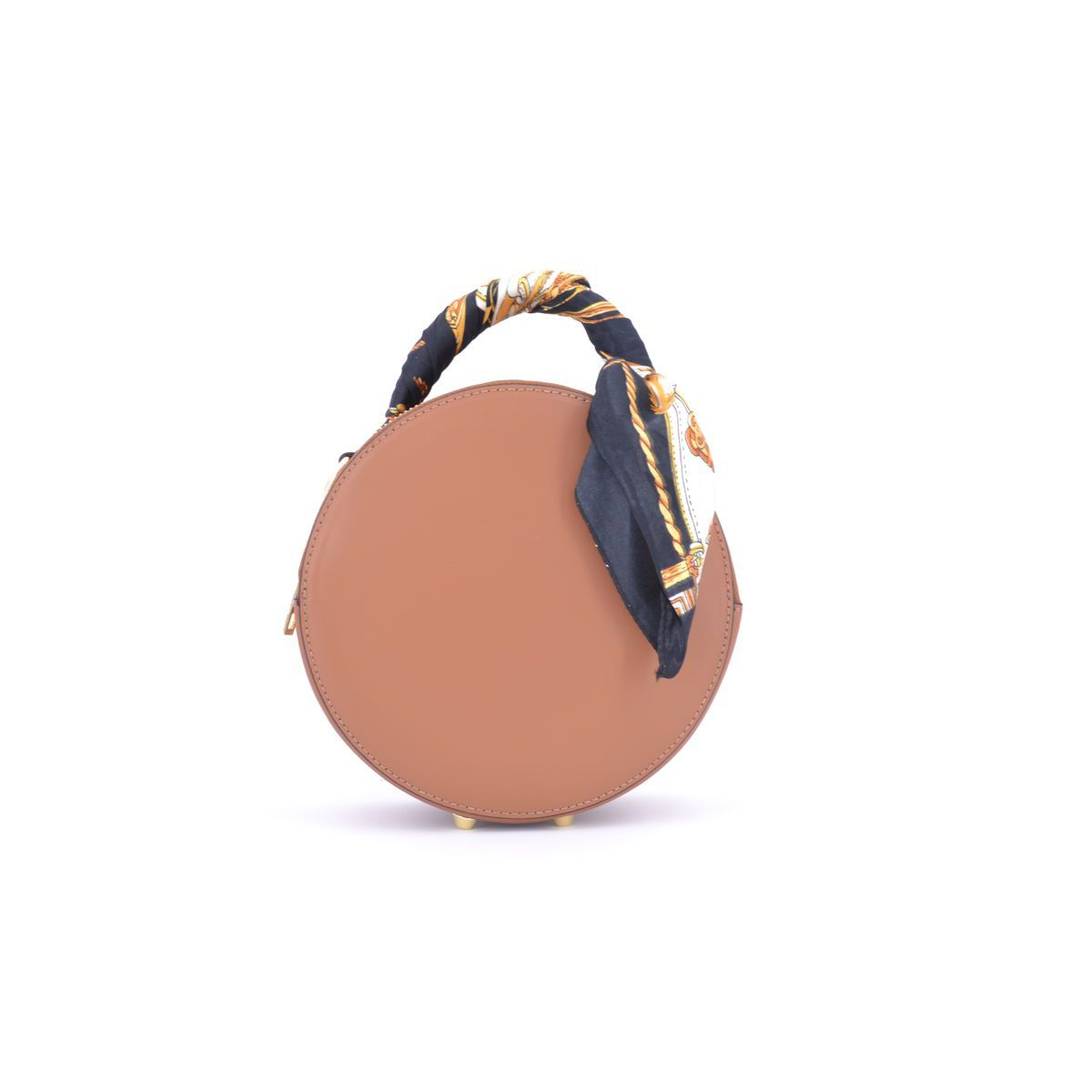 LEATHER ROUND BAG Brown BRASS Selection