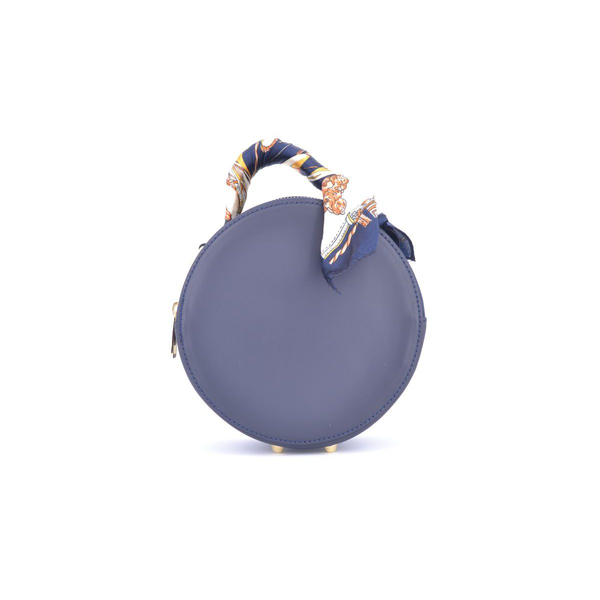 BLU ROUND BAG Blue BRASS Workshop