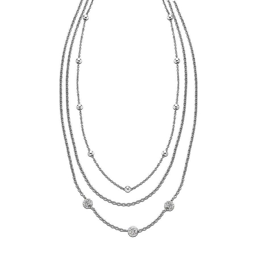 SW NECKLACE LS1776/1/1 White LOTUS Style